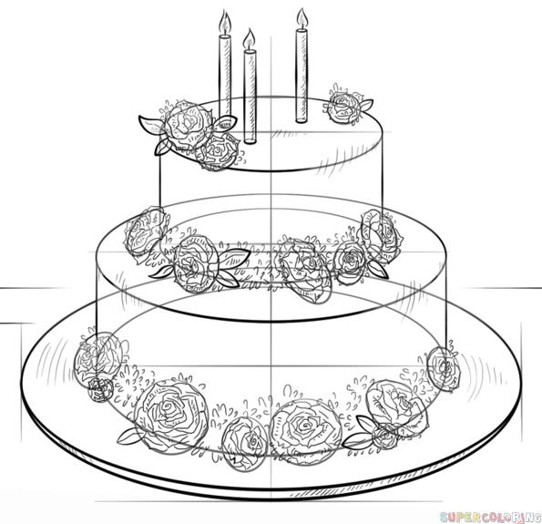 birthday cake easy drawing ; how-to-draw-a-birthday-cake-step-by-step-drawing-tutorials-how-to-draw-a-birthday-cake-in-illustrator