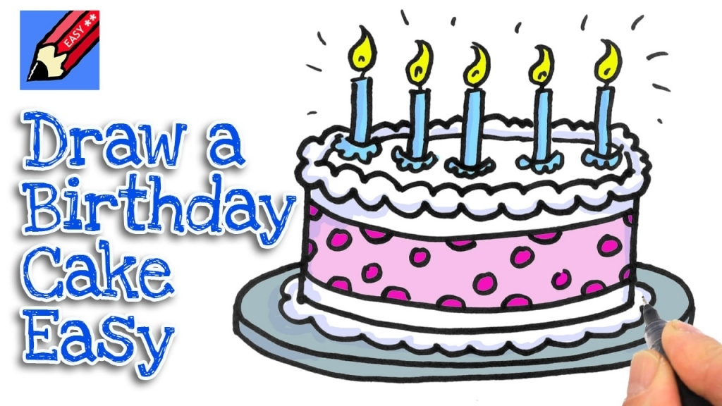 birthday cake easy drawing ; how-to-draw-a-birthday-cake-youtube-1