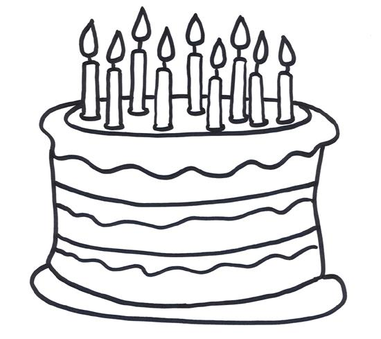 birthday cake line drawing ; Marvelous-Birthday-Cake-Coloring-Page-76-About-Remodel-Coloring-Pages-Online-with-Birthday-Cake-Coloring-Page