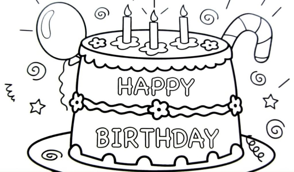 birthday cake line drawing ; happy-birthday-cake-drawing-pages-coloring-book-fun-art-colours-1024x600