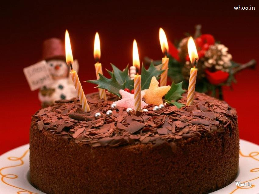 birthday cake wallpaper images ; Chocolate-Birthday-Cake-with-Lighting-Candle-HD-Wallpaper
