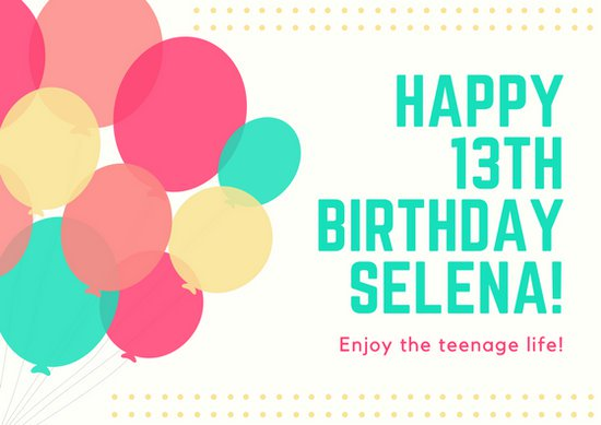 birthday card design images ; canva-pink-teal-yellow-bright-balloons-13th-birthday-card-MAB_nlHgdW4