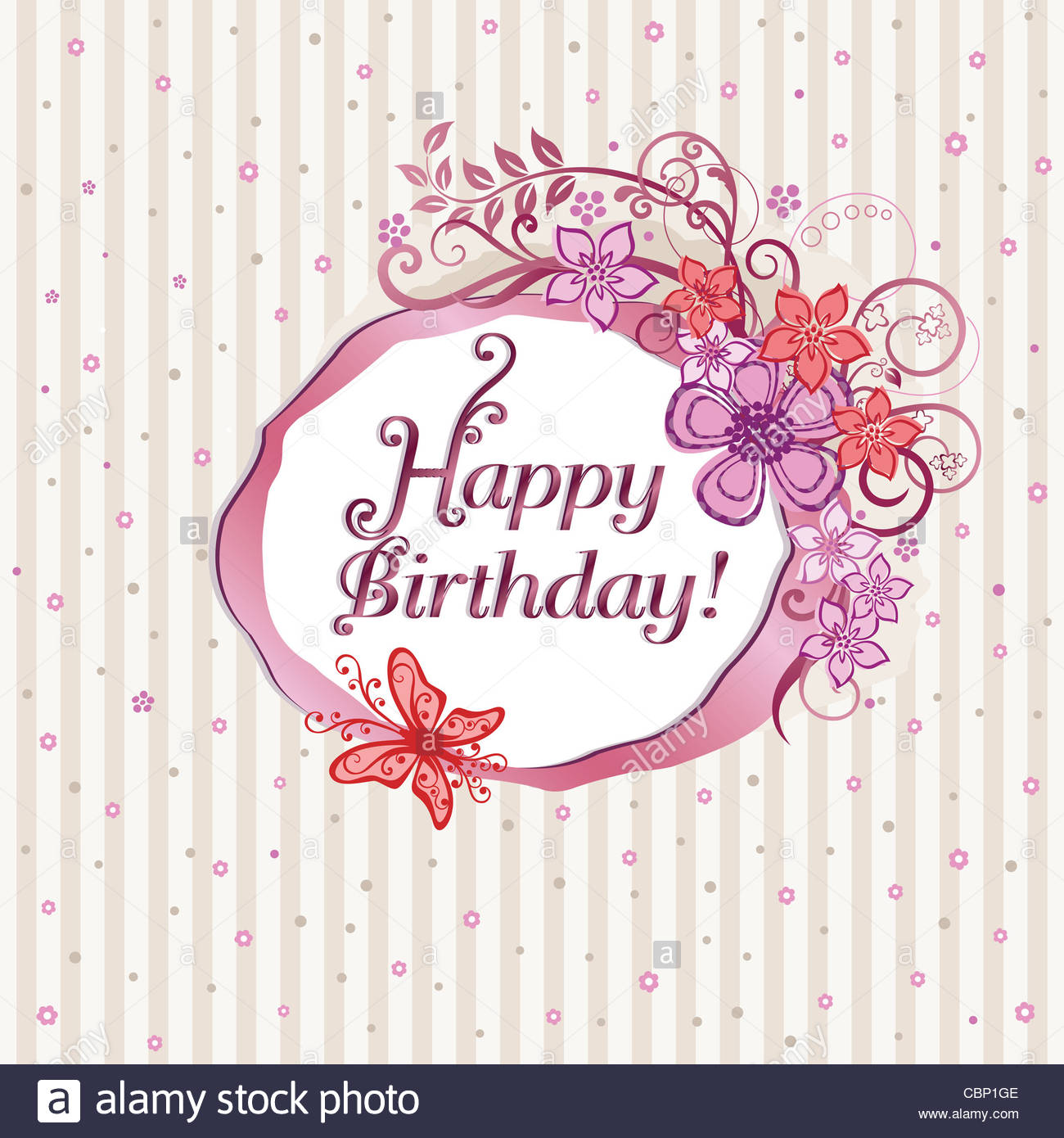birthday card design images ; pink-flowers-and-butterflies-happy-birthday-card-design-CBP1GE