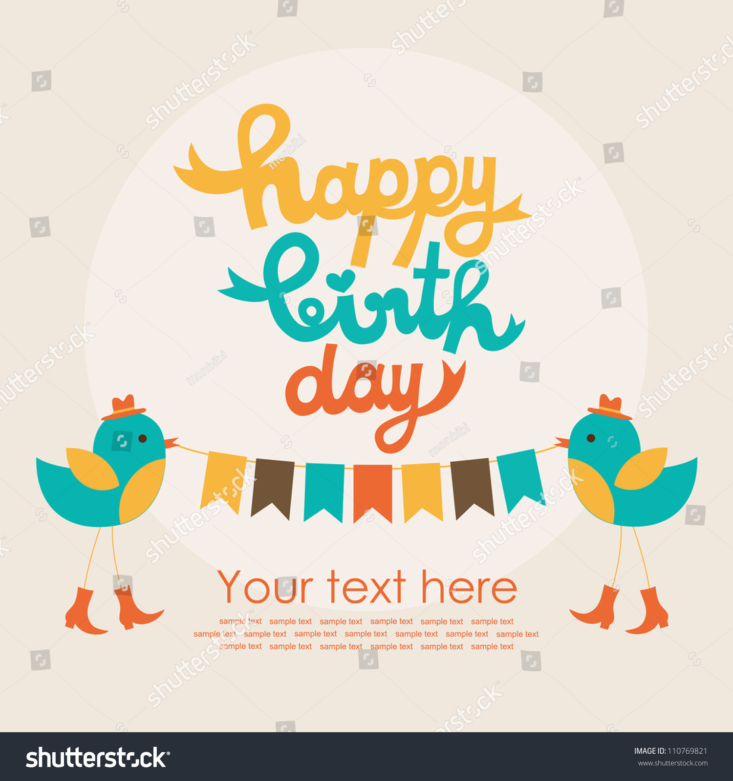 birthday card design images ; stock-vector-happy-birthday-card-design-vector-illustration-110769821