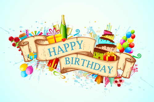 birthday card design images ; vector_set_of_birthday_cards_design_elements_545523