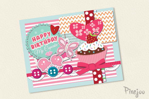 birthday card design in photoshop ; Scrapbook-Happy-Birthday-Card