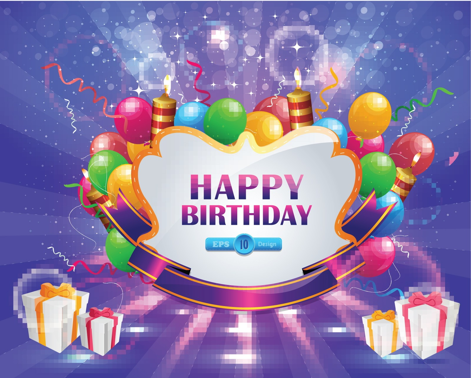 birthday card design with photo ; birthday-cards-design-rectangle-landscape-purple-balloon-and-gift-picture-the-24-best-latest-happy-birthday-greeting-cards-funny-and-cute