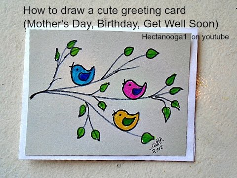 birthday card drawings free ; drawing-on-greeting-cards-diy-greeting-card-how-to-draw-a-mothers-day-card-birthday-card-free