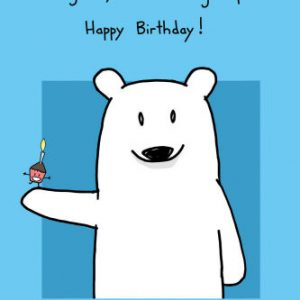 birthday card pictures for facebook ; cute-polar-bear-wishing-happy-facebook-birthday-card-holding-cupcake-dancing-candle-inspiring-ways-greeting-theme-300x300