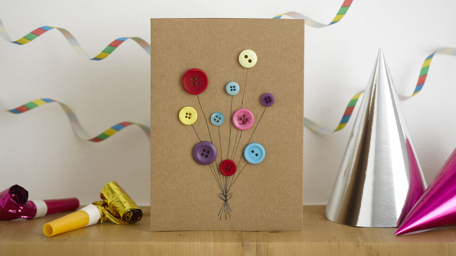 birthday card pictures to draw ; diy-birthday-card-buttons