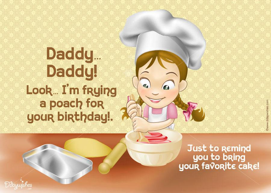 birthday card wishes for dad ; frying-a-poach-father-birthday