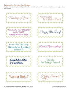 birthday card wishes sayings ; greeting-card-sayings-classic-white-paper-unique-shaped-with-various-colour-and-different-font-style-completed-with-special-greeting-or-quote