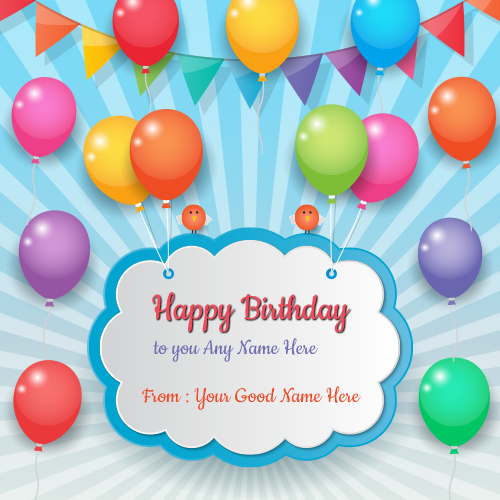 birthday card with picture and name ; Happy-Birthday-balloons-greeting-card