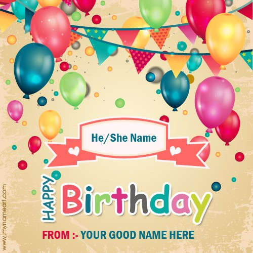 birthday card with picture and name ; demo-5