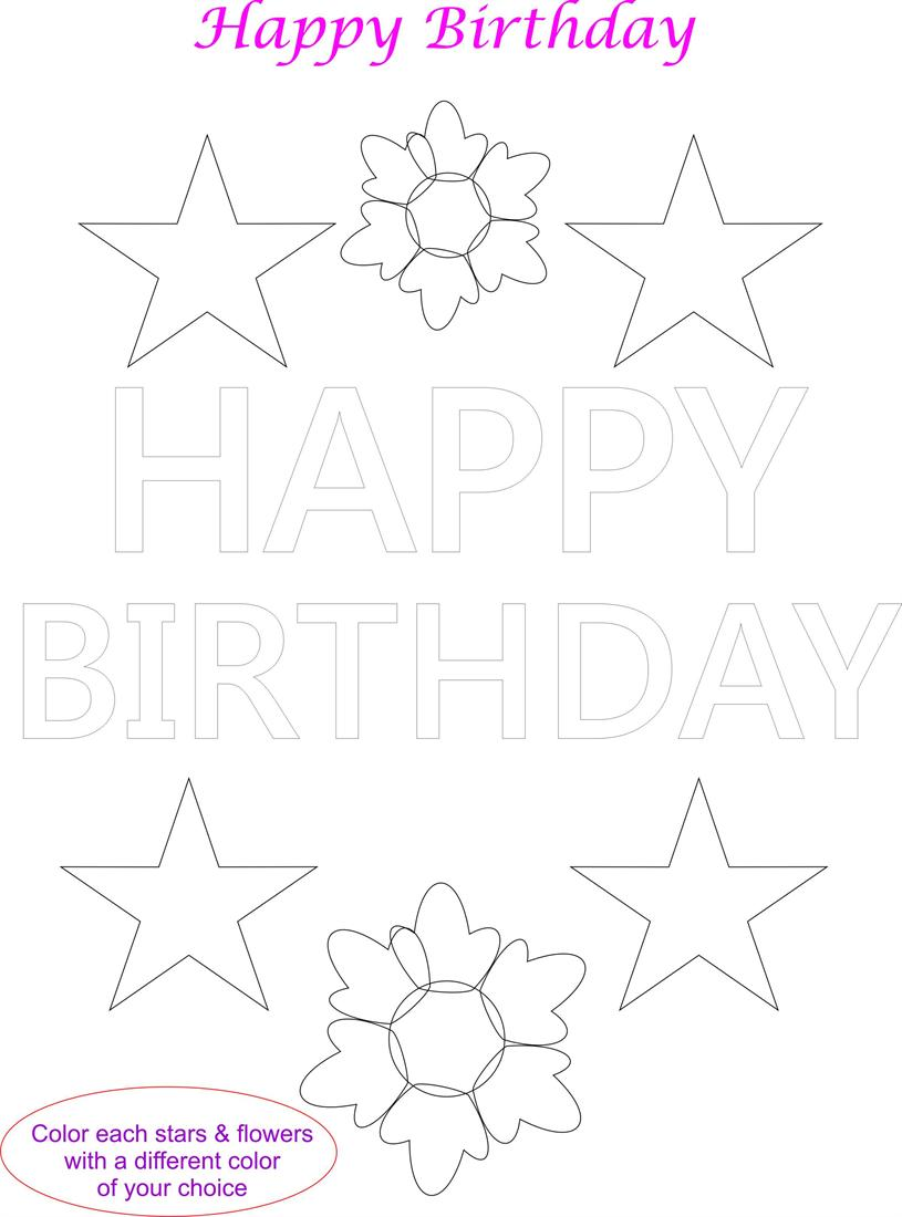 birthday card worksheet ; 2859-42025-2