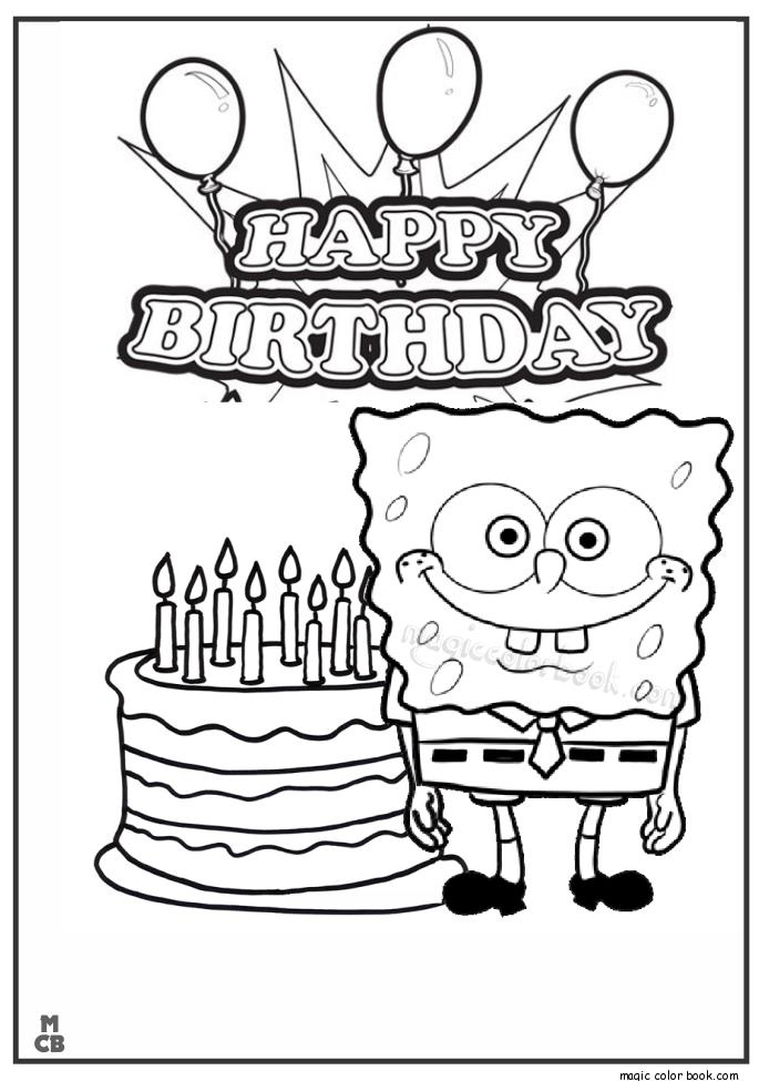 birthday card worksheet ; Happy-Birthday-Sponge-Bob-coloring-Page