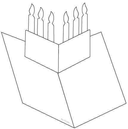 birthday card worksheet ; candles1a