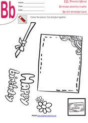 birthday card worksheet ; card