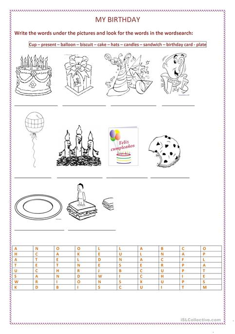 birthday card worksheet ; my-birthday-party-fun-activities-games_12448_1