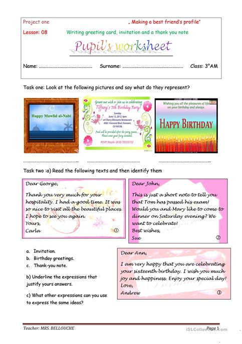 birthday card worksheet ; writing-greeting-card-invitations-and-thank-you-no-reading-comprehension-exercises-writing-creative-w_91629_1