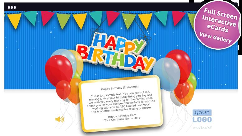 birthday cards design with message ; HTML5-birthday-cards-with-logo-for-business-new
