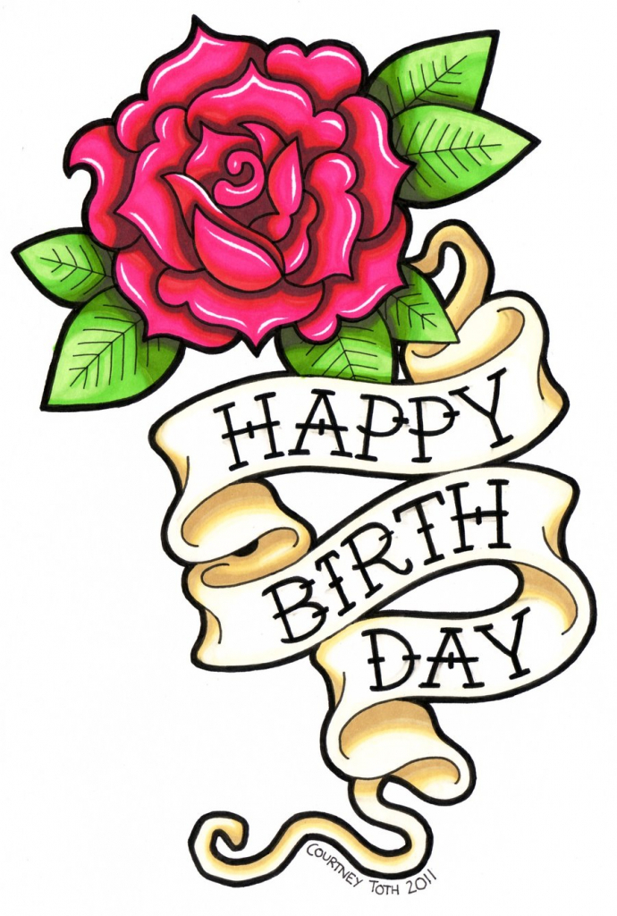 birthday cards for drawing ; flower-drawings-for-cards-birthday-drawings-free-download-clip-art-free-clip-art-on