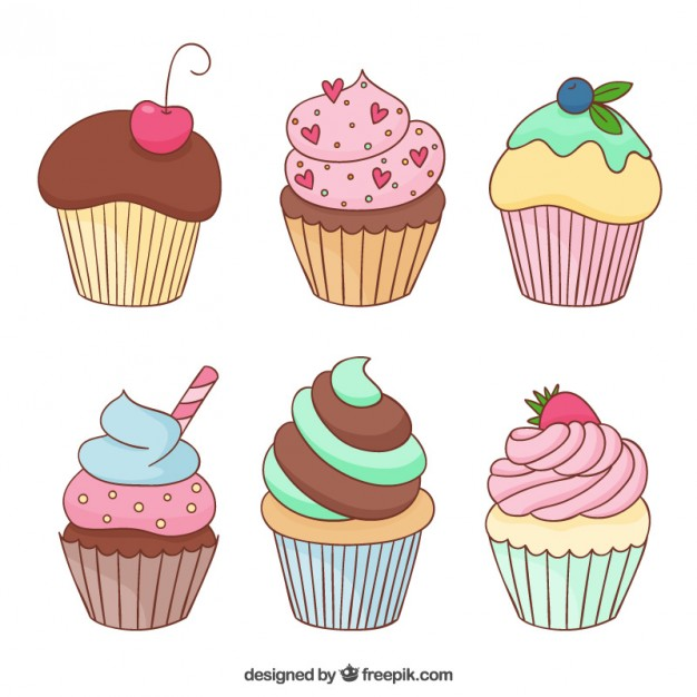 birthday cupcake drawing ; delicious-cupcakes_23-2147514136