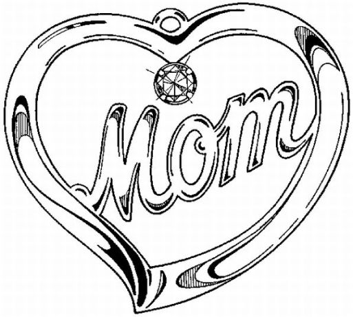 birthday drawings for mom ; Mom-Printable-Kids-Coloring-Page-Free