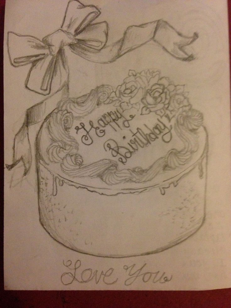birthday drawings for sister ; 106c10062042eb69844eb231af5de08e--cake-drawing-my-sister-birthday