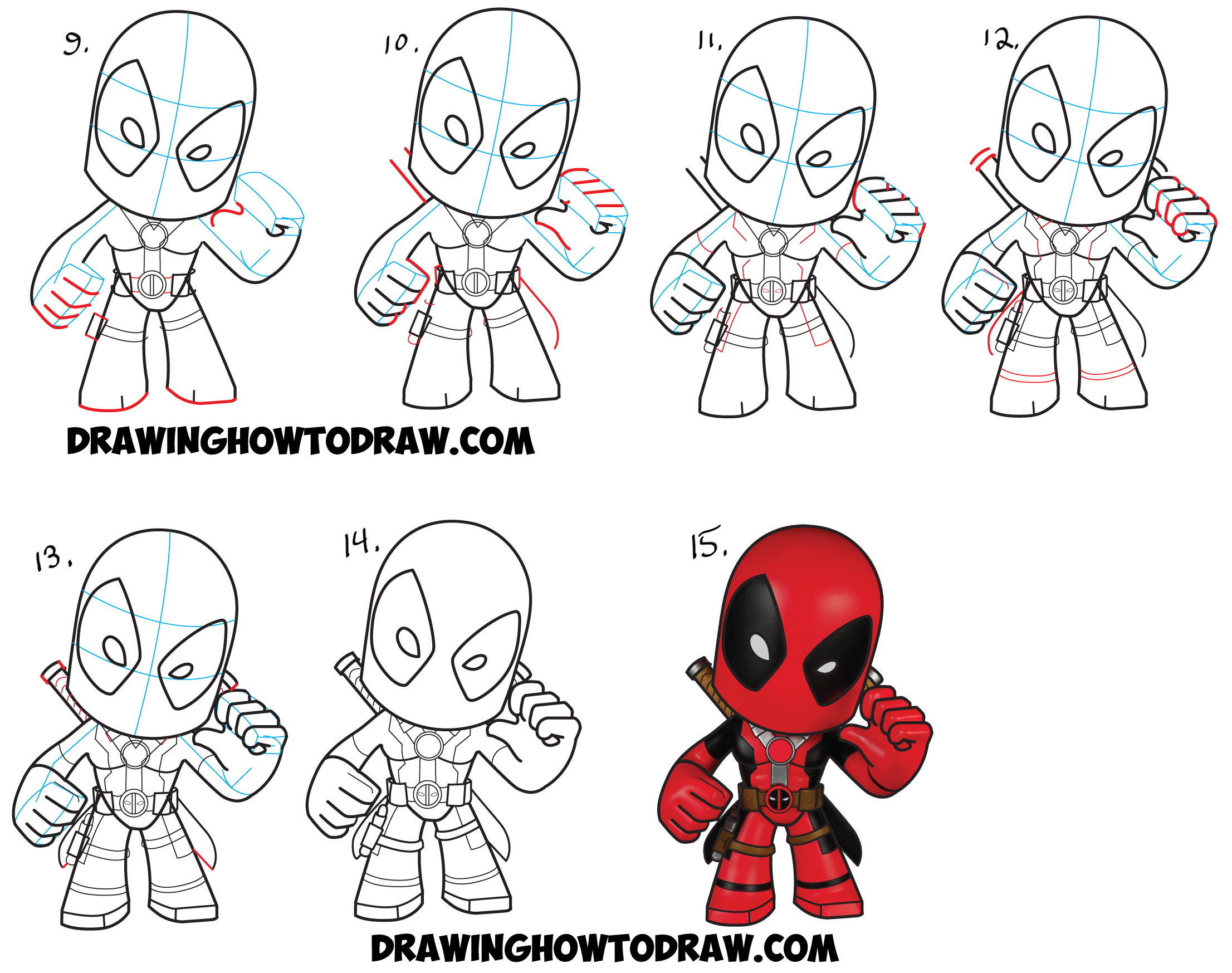 birthday drawings step by step ; howtodraw-chibi-deadpool-stepbystep-tutorial-2