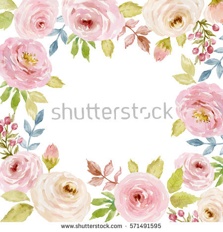 birthday flower borders ; stock-photo-painted-watercolor-composition-of-flowers-in-pastel-colors-frame-border-background-greeting-571491595