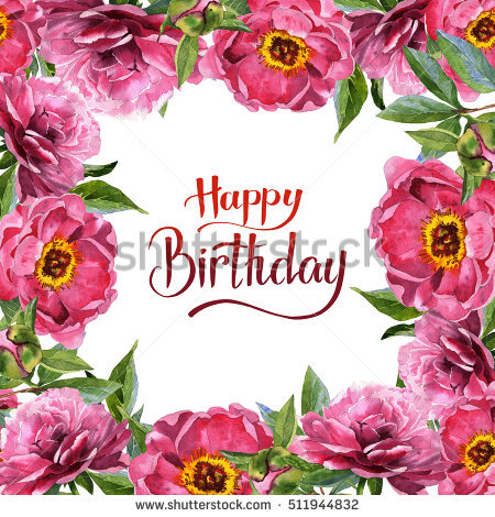 birthday flower borders ; stock-photo-wildflower-peony-flower-frame-in-a-watercolor-style-isolated-full-name-of-the-plant-peony-511944832