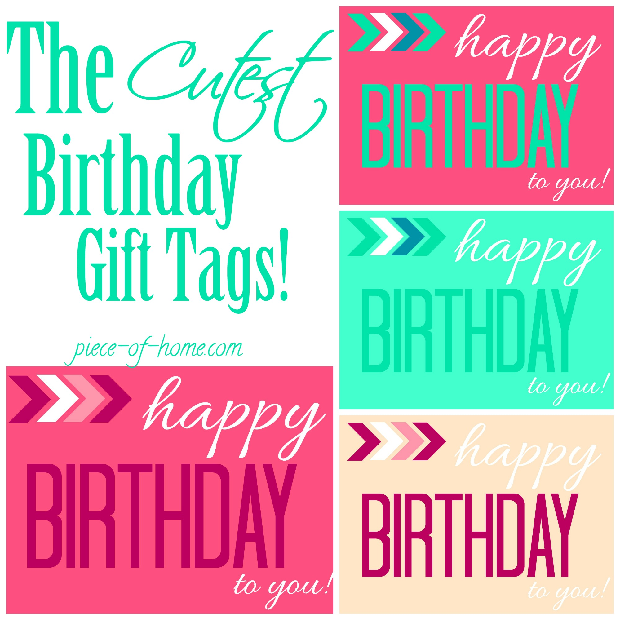 birthday gift labels template ; The-Cutest-Birthday-Gift-Tags