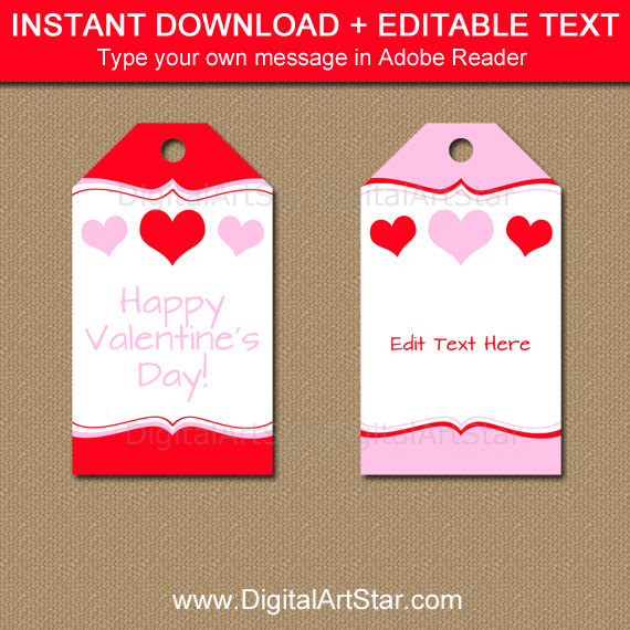 birthday gift labels template ; il_570xN