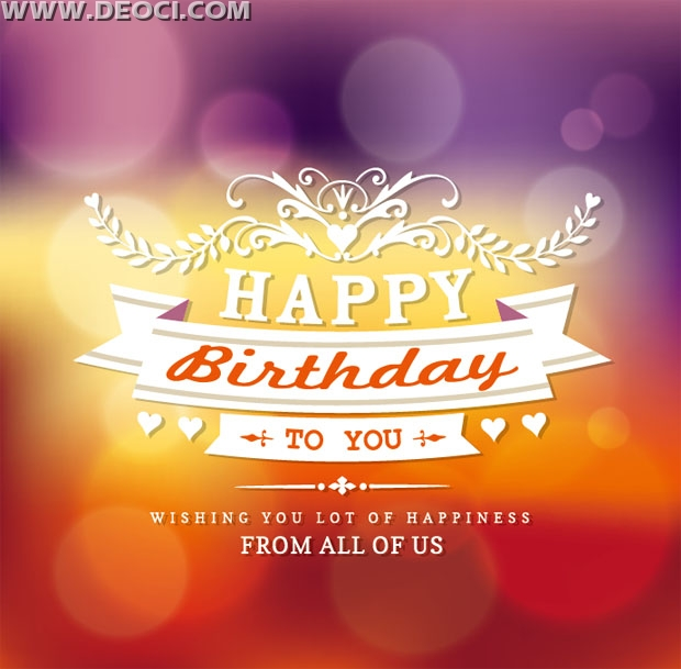 birthday greeting card background design ; 1283_deoci