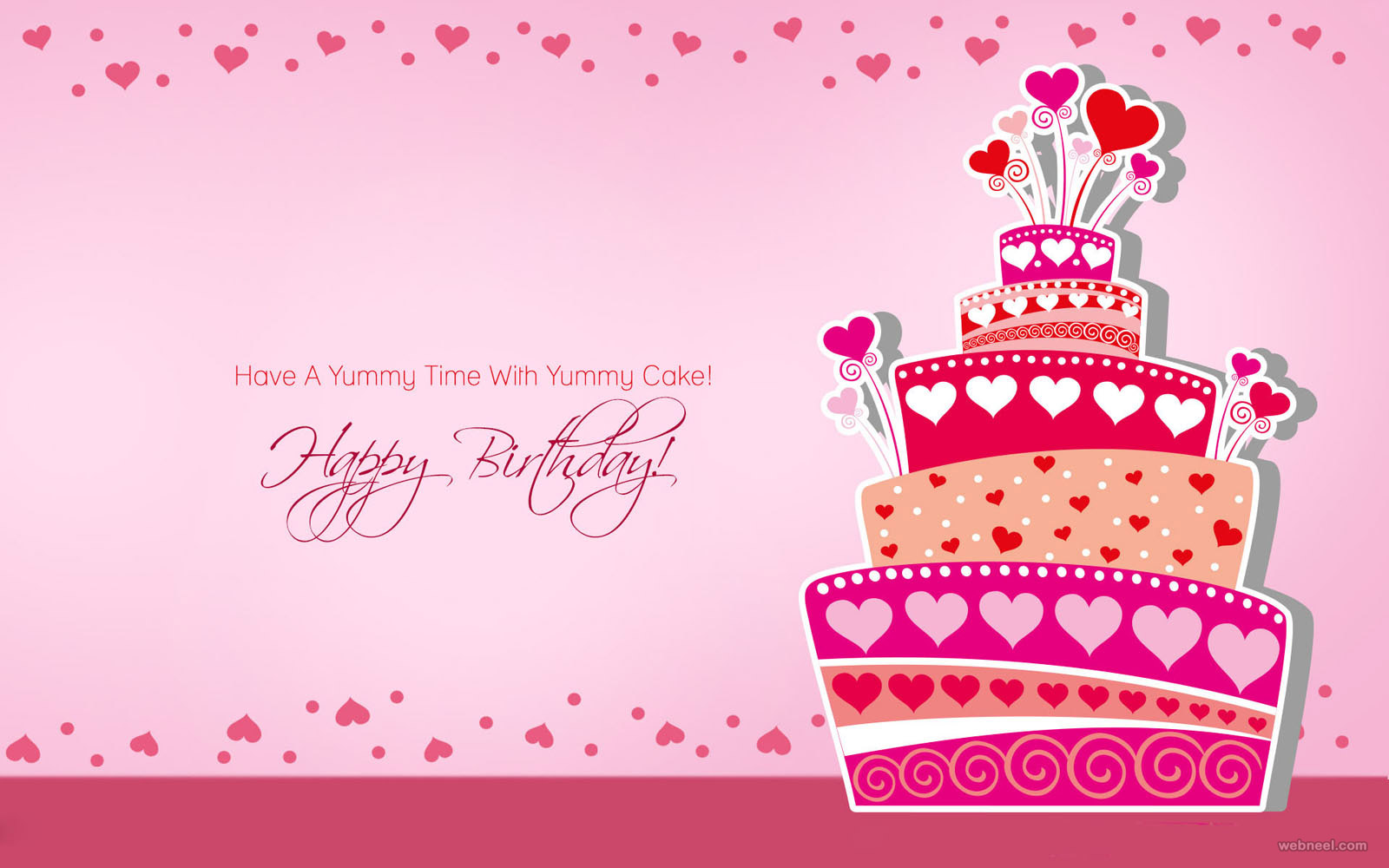 birthday greeting card background design ; 7-birthday-greetings-card-design-cake