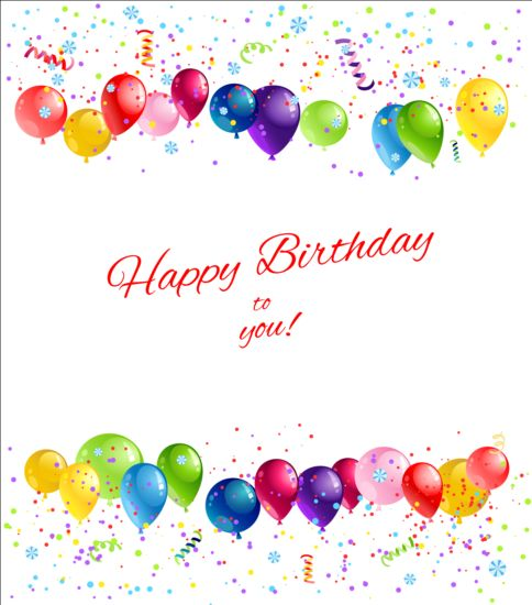 birthday greeting card background design ; Bright-birthday-background-design-vector-08