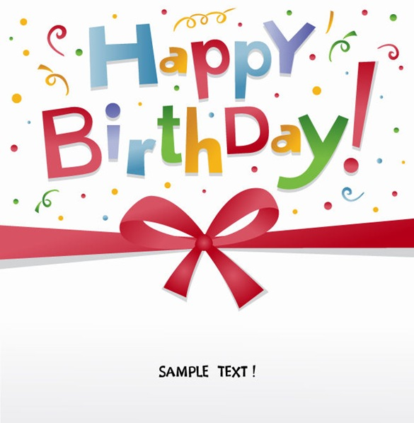 birthday greeting card design free ; HappyBirthdayGreetingCardVector