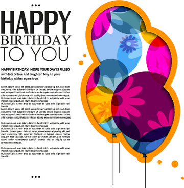 birthday greeting card design free ; template_birthday_greeting_card_vector_549418