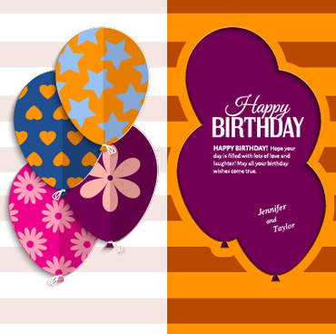 birthday greeting card design free ; template_birthday_greeting_card_vector_549420