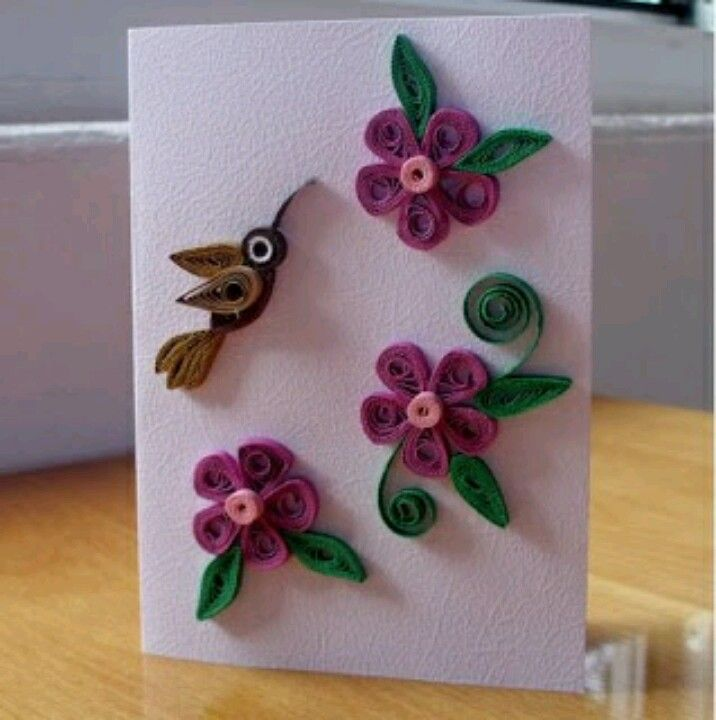 birthday greeting card design quilling ; Handmade-birthday-cards-designs