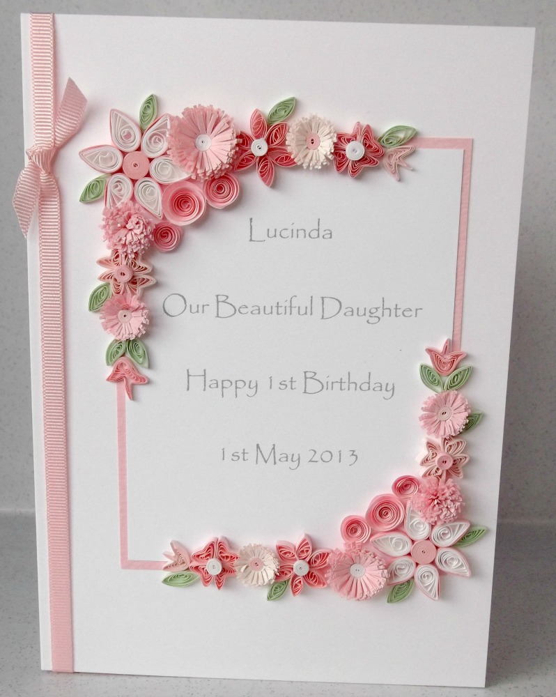 birthday greeting card design quilling ; Quilled+birthday+card