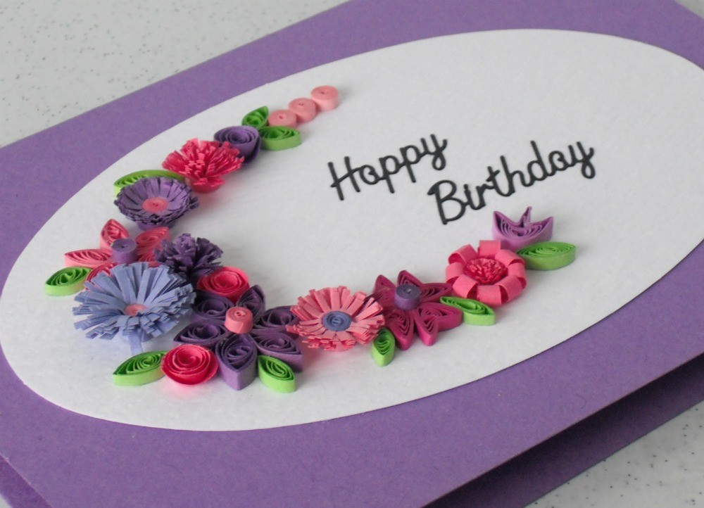 birthday greeting card design quilling ; c79ff2ca507c81fd50c8616306b8f8bb