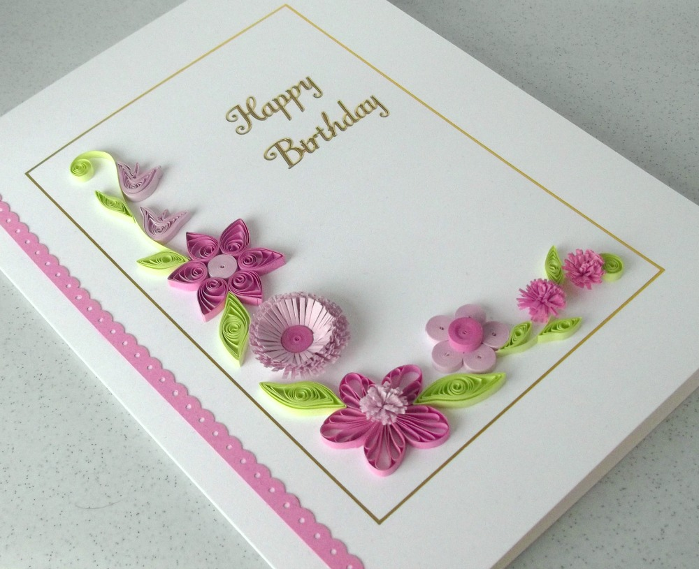 birthday greeting card design quilling ; e1939826cfd3878df295e8e20fb34cda