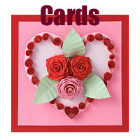 birthday greeting card design quilling ; valentine