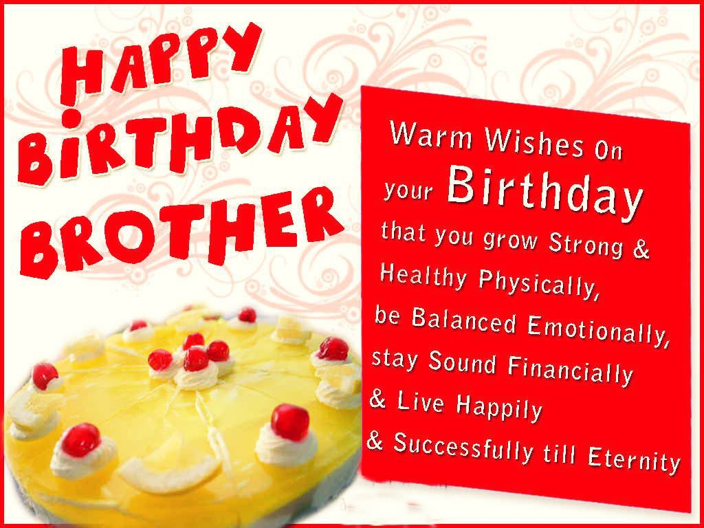 birthday greeting for brother messages ; Birthday-Cake-Wishes-For-Brother-Messages
