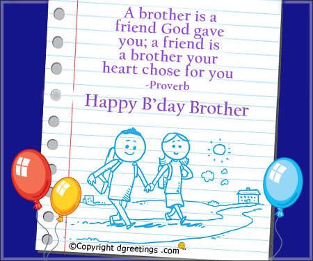 birthday greeting for brother messages ; birthday-brothera-brother-is