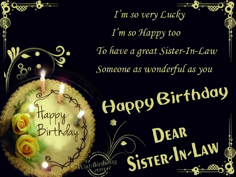 birthday greeting messages for sister in law ; 538