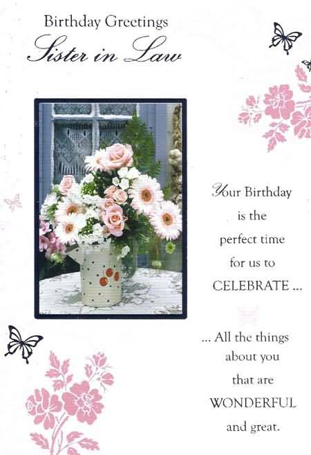birthday greeting messages for sister in law ; beautiful-flower-pot-birthday-wishes-for-sister-in-law-greetings