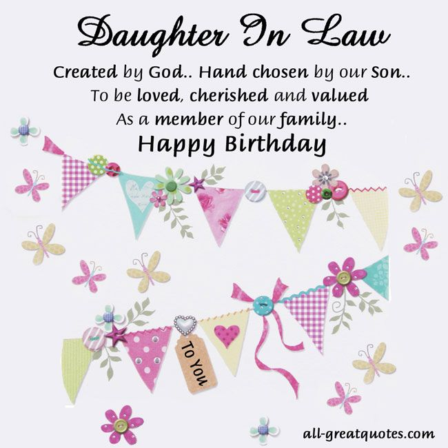 birthday greetings message for daughter in law ; 0801a48f57317d73d6a3def46ecf157d
